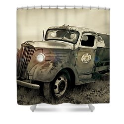 Old Water Truck Shower Curtain