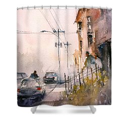 Old Wautoma Hotel Shower Curtain by Ryan Radke