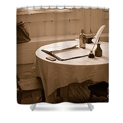 Old Way Of Life Series - Home Office Shower Curtain by Joe  Ng