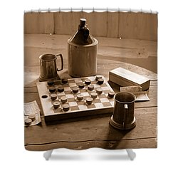Old Way Of Life Series - Past Time Shower Curtain