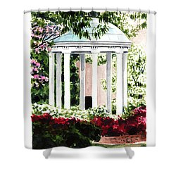 Old Well Chapel Hill Unc North Carolina Shower Curtain