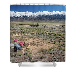 Old West Rocky Mountain Cemetery View Shower Curtain by James BO Insogna