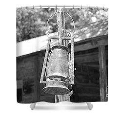 Old Western Lantern Shower Curtain by Ray Shrewsberry