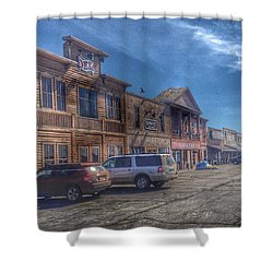 Shower Curtain featuring the photograph Old Western Town by Deborah Klubertanz