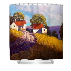 Old Willy's Barn Shower Curtain