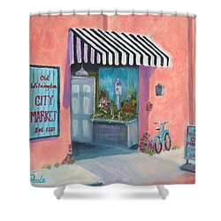 Old Wilmington City Market  Shower Curtain