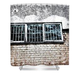 Old Window Bars Shower Curtain