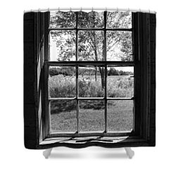Old Window Bw Shower Curtain