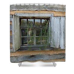 Old Window Shower Curtain