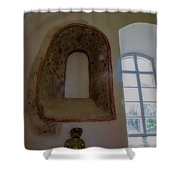 Shower Curtain featuring the photograph Old Window In Teda Church by Leif Sohlman