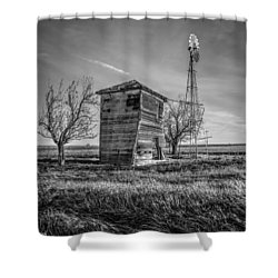 Old Windpump Shower Curtain