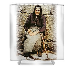 Old Woman Of Spain Shower Curtain