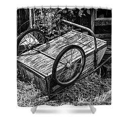 Old Wood Cart Shower Curtain