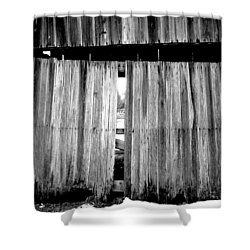 Old Wood Shower Curtain by Ed Smith