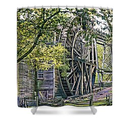 Shower Curtain featuring the photograph Old Wooden Mill by Kim Wilson