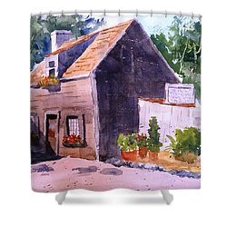 Old Wooden School House Shower Curtain