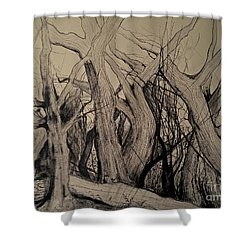 Old Woods Shower Curtain