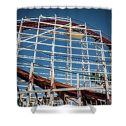 Shower Curtain featuring the photograph Old Woody Coaster by T Brian Jones