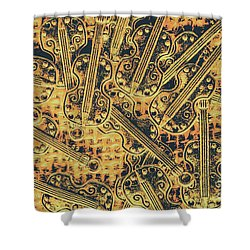 Old-world Musical Composition Shower Curtain