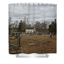 Old Yellow Meeting House Shower Curtain by Elsa Marie Santoro
