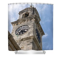 Olde Time Clock Shower Curtain
