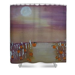 Olde Tyme Pumpkin Patch And Maze Shower Curtain