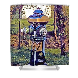 Oldenburg Fireplug Shower Curtain