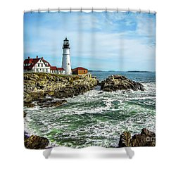 Oldest Lighthouse In Maine Shower Curtain