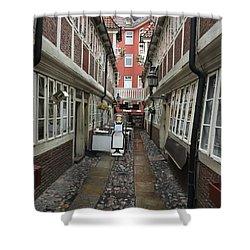 Krameramtsstuben The Oldest Street In Hamburg Germany Shower Curtain