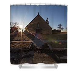 Shower Curtain featuring the photograph Oldham, Sd by Aaron J Groen