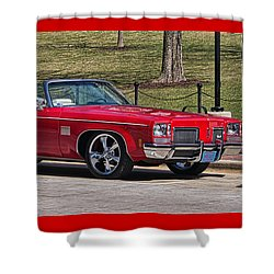 Oldsmobile Delta Royale 88 Red Convertible Shower Curtain