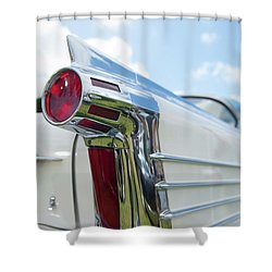 Oldsmobile Tail Shower Curtain by Helen Northcott