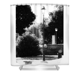 #oldtimes #old #vintage #lamp #daylight Shower Curtain by Lorin Braticevici