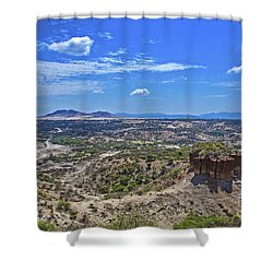 Shower Curtain featuring the photograph Olduvai Gorge - The Cradle Of Mankind by Pravine Chester