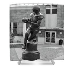 Ole Miss Football Statue Shower Curtain