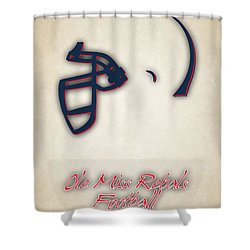 Ole Miss Rebels Helmet Shower Curtain