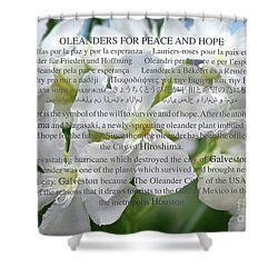 Oleanders For Peace And Hope Shower Curtain by Wilhelm Hufnagl
