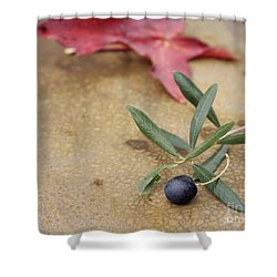 Shower Curtain featuring the photograph Olive by Cindy Garber Iverson