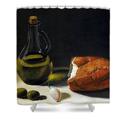 Olive Oil And Bread Shower Curtain
