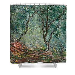 Olive Trees In The Moreno Garden Shower Curtain by Claude Monet