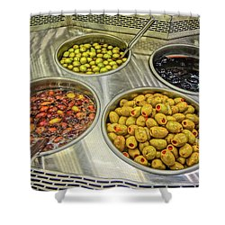 Olives Shower Curtain by Bruce Iorio