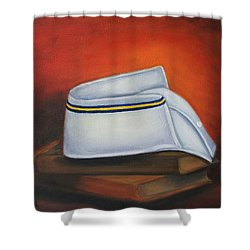 Shower Curtain featuring the painting Olivet Nazerene University  by Marlyn Boyd