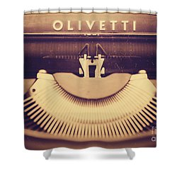 Olivetti Typewriter Shower Curtain