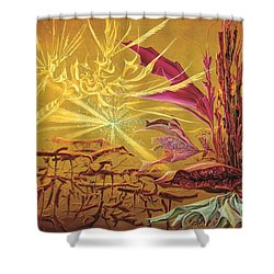 Olivier Messiaen Landscape Shower Curtain by Charles Cater
