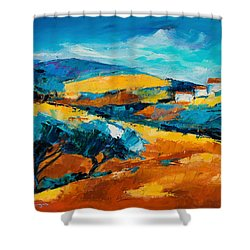 Oliviers En Provence Shower Curtain by Elise Palmigiani