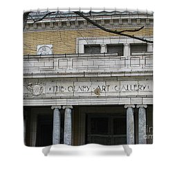 Shower Curtain featuring the photograph Olney Art Gallery 2 by Michael Krek