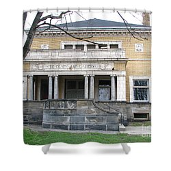 Shower Curtain featuring the photograph Olney Art Gallery by Michael Krek