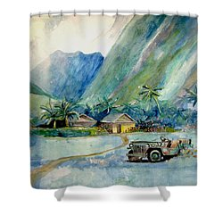 Olowalu Valley Shower Curtain