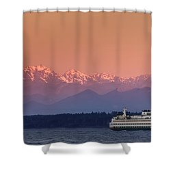 Shower Curtain featuring the photograph Olympic Journey by Dan Mihai