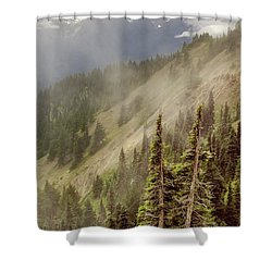 Shower Curtain featuring the photograph Olympic Range From Hurricane Ridge by Peter J Sucy